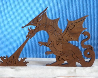 Wooden Fire Breathing Dragon Puzzle