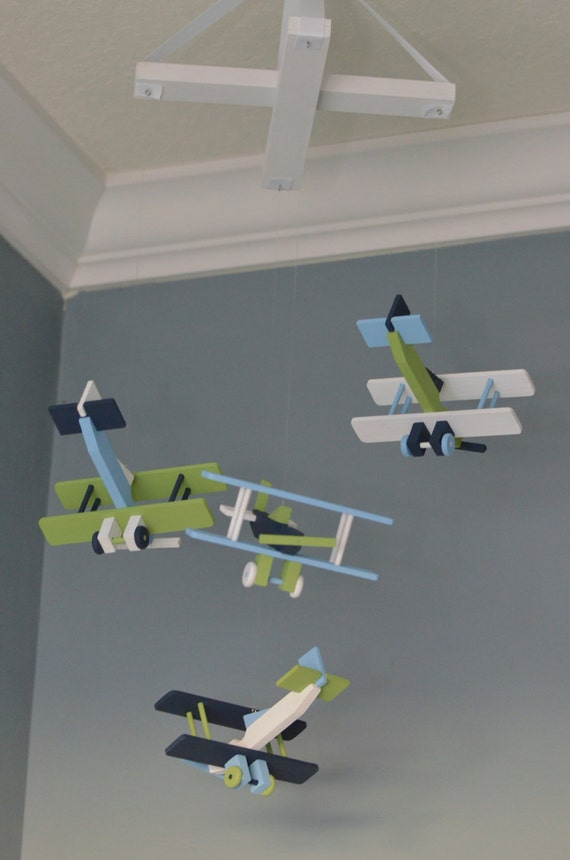 Items similar to airplane nursery mobile nursery decor Vintage airplane decor for nursery