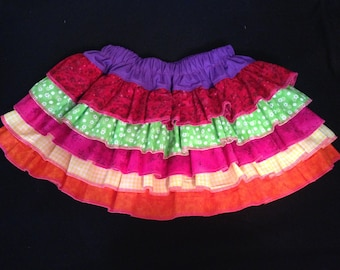 Scrap ruffle skirt size 4-8