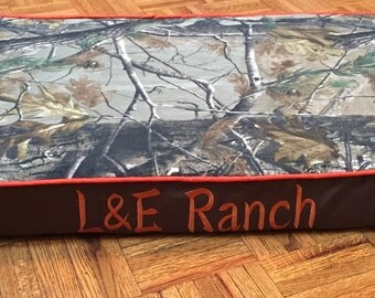 Custom personalized pet bed (dog, cat, pig) camo and pink