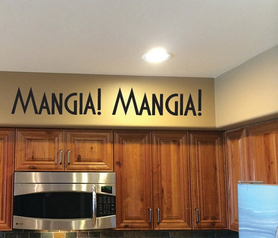 Italian Kitchen Decor: Italian Kitchen Decor. Mangia Mangia Vinyl Wall Decal