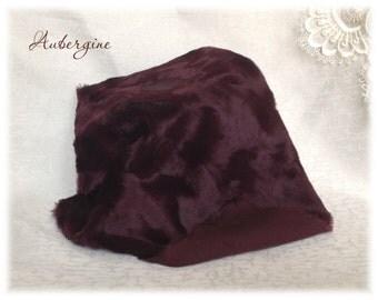 Italian VISCOSE Fabric Fur Aubergine Colour 6-7 mm pile 1/8 metre or more teddy bear making supplies plush