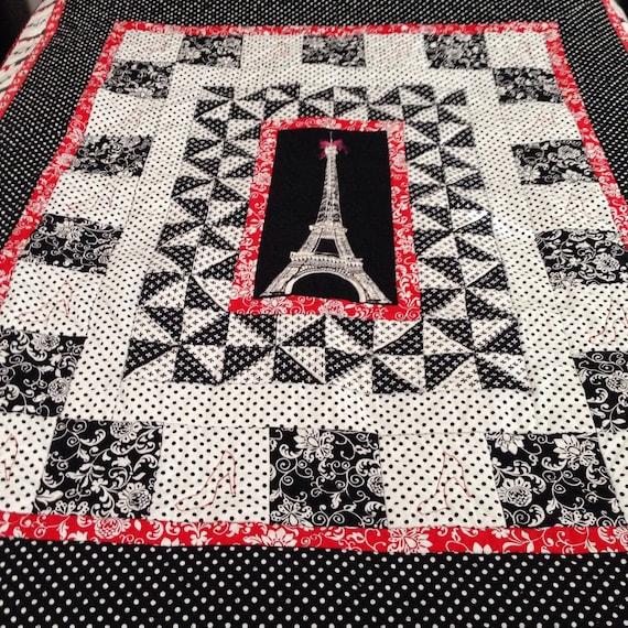 Eiffel Tower Paris Quilt