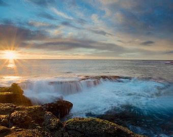 Sunrise Photography, Fine Art photography, Beach Photography, Bright Beach Photography, Bright Sun Photography, Beach Home Decor, Beach Art