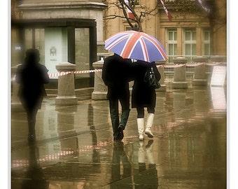 London Photography, London Rain, London Prints, London, London Iconic Prints, British Icon,British Flag Print Photo,UK British Flag Umbrella