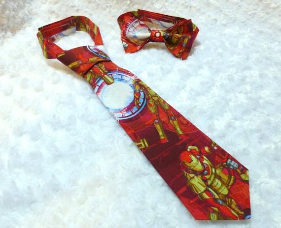 iron man adjustable neck tie kids neck tie handmade. Black Bedroom Furniture Sets. Home Design Ideas