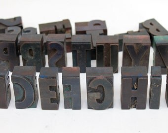 "2"" Letterpress Wood Block Letters, sold separately"