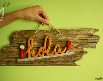 Customize it! Welcome rustic sign. Driftwood.
