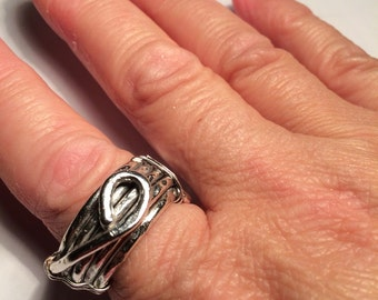 Fine Silver (Rough Twist) Ring