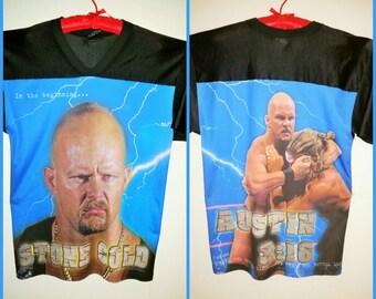 90s WWF Stone Cold Steve Austin Jersey Mens L