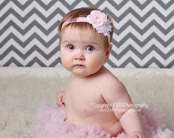 White and pink Headband, White Headband, Pink Headband, pink Flower girl headband, White Headband, pink birthday headband, pink clip