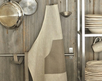 Linen Full Apron with Bib, Adjustable at the Neck