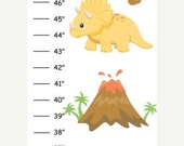 ON SALE Personalized Dinosaurs Canvas Growth Chart