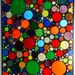 Abstract Stained Glass Panel Circle Collage Tiffany Style Glass Art, Rainbow Stained Glass, Free Shipping, Made to Order, Gift Idea