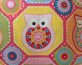 SALE - One Half Yard of Fabric Material - Pastel Owls