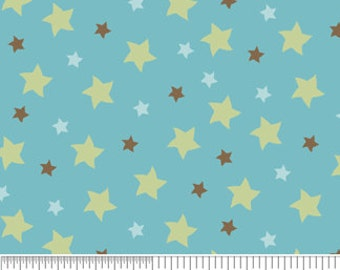 Riley Blake - Sheri Berry - Mod-Tod - Light Blue With Stars Cotton Fabric
