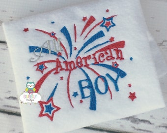 All American Boy Patriotic or 4th of July Shirt or Bodysuit, Independence Day, 4th of July Parade, Fireworks, Fourth of July