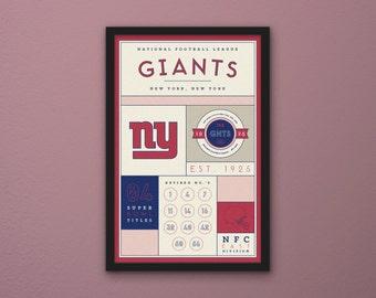 New York Giants Stats Print