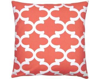 Bob coral white cushion cover 40 x 40 cm