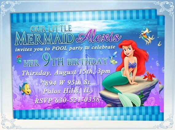 Little Mermaid Invitation with nice invitations layout