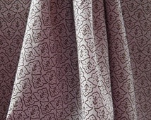 Fabric 100% light cotton pale pink, brown floral geometric patterns in mind. J009