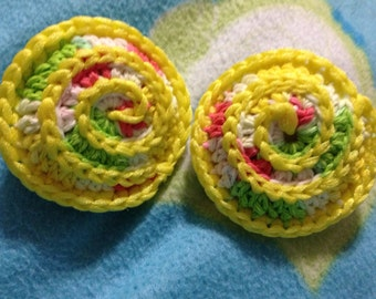 Set of 2 Crocheted dish Scrubbies,pot scrubbers,