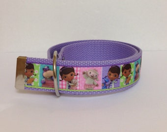 Doc McStuffins Girls Belt - Girls Belt - D Rings Belt - Doc McStuffins Belt-Children Belt - Kids Belt - Toddler Belt - Velcro Belt