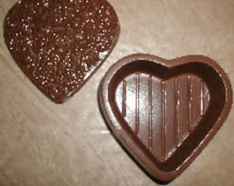 Floral Heart Pour Box Chocolate Mold