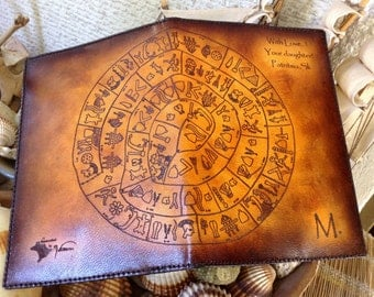 Ancient Art Passport Holder Cover / Deluxe Italian Leather / Engraved & Hand Dyed / Suede Lining / PERSONALIZED