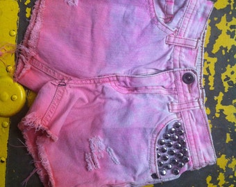 Dyed and studded toddler shorts size 2T