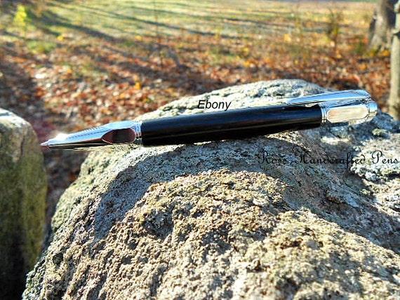 Handcrafted Ball Point Pen, Writing Pen, Ebony wood, Custom Made Pen, Great Gift Idea!! #271