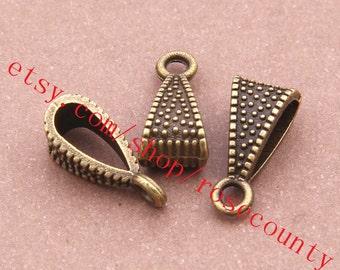Wholesale 100pcs 14x7mm antiqued silver/antiqued bronze pendant conectors/bracelet connectors/pendant bails