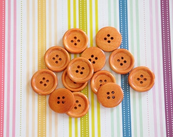 20 Wooden buttons 20mm 4 holes sewing buttons craft wood buttons