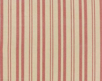 Petite Woven Silky Cotton Multi Stripe Rouge - 1/2yd