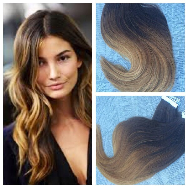 5 star ombre balayage european remy tape in seamless weft hair zoom pmusecretfo Images