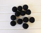 Black Felt Balls 12 count