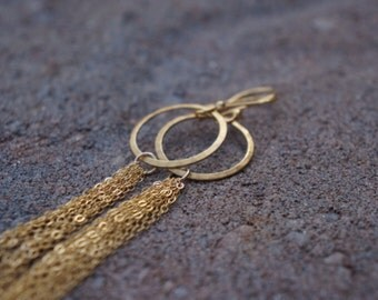 Gold filled chain earrings
