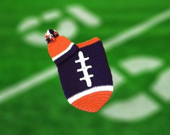 Denver Fan Favorite Baby Boy Football Cocoon & Hat (Newborn to 3 months)