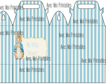 Peter Rabbit Printable Box Template - High Quality Printable INSTANT DOWNLOAD
