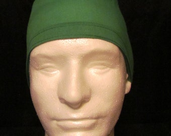 Basic True Green Tie Back Surgical Scrub Hat