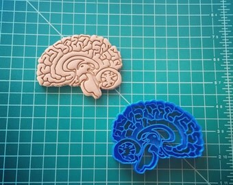 Brain Cookie Cutter 3D Printed
