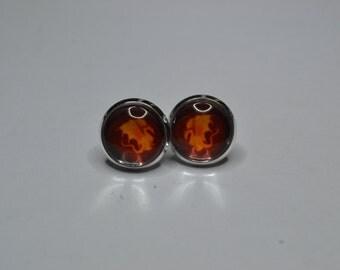 BBC Merlin Pendragon shield earrings