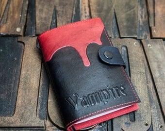 Gothic 'Vampire' leather journal