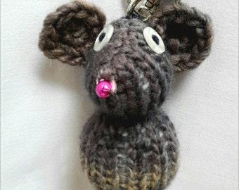 Keychain mouse Brown/grey melange