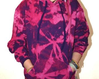 Tie Dye Purple spiral Hoodie