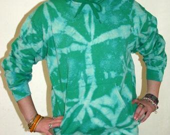 Tie Dye Green spiral Hoodie