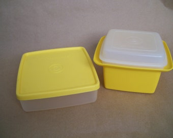 Tupperware Square Containers in Maize Yellow