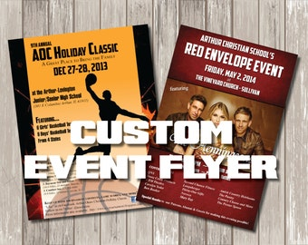 Custom Event Poster Flyer Design  - Custom Event Flyer Print - Graphic Design Print Poster