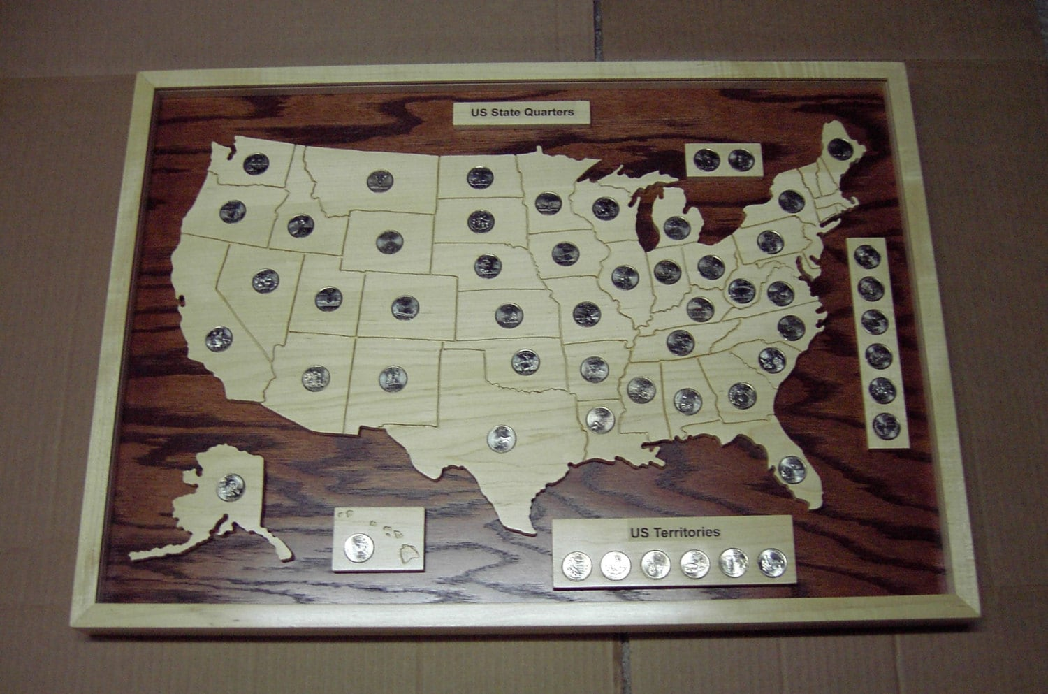 Quarter Coin Holder Shaped Like Pigs - Us map for quarters
