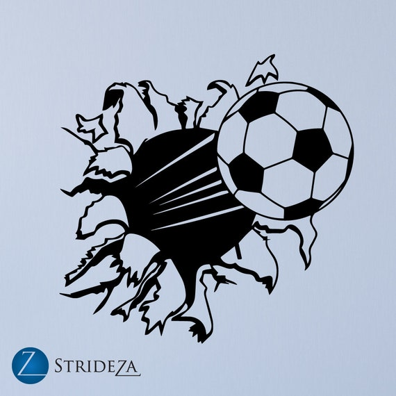 Soccer Wall Decal Soccer Decor Soccer Decal Boys Room